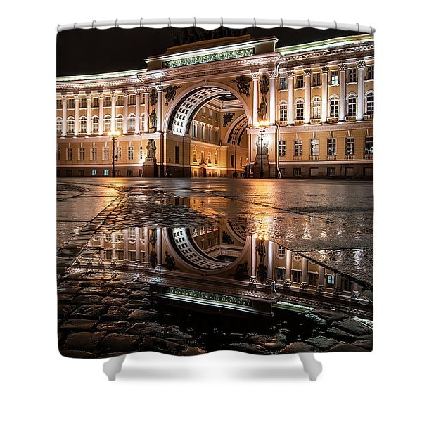 Shower Curtain featuring the photograph Evening Reflections by Jaroslaw Blaminsky