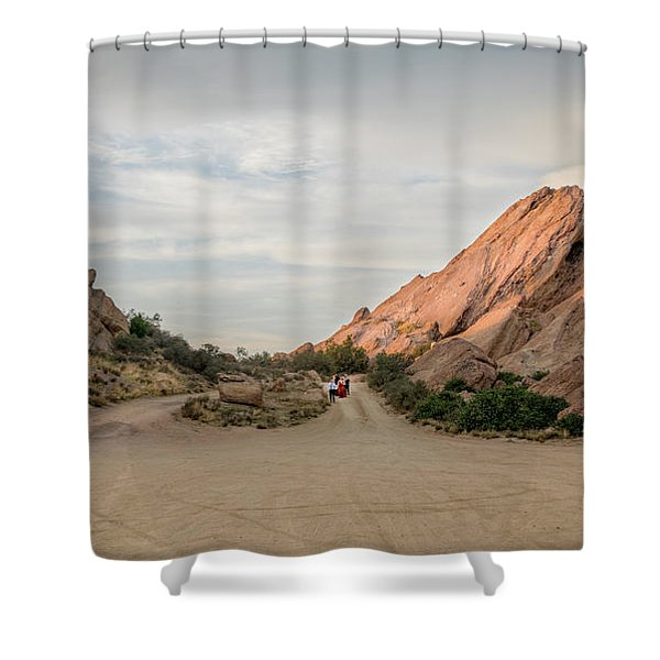 Shower Curtain featuring the photograph Evening Rocks By Mike-hope by Michael Hope
