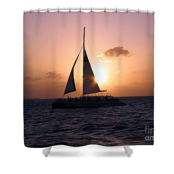 Evening Sail Shower Curtain