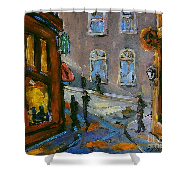Evening Shadow By Prankearts Shower Curtain