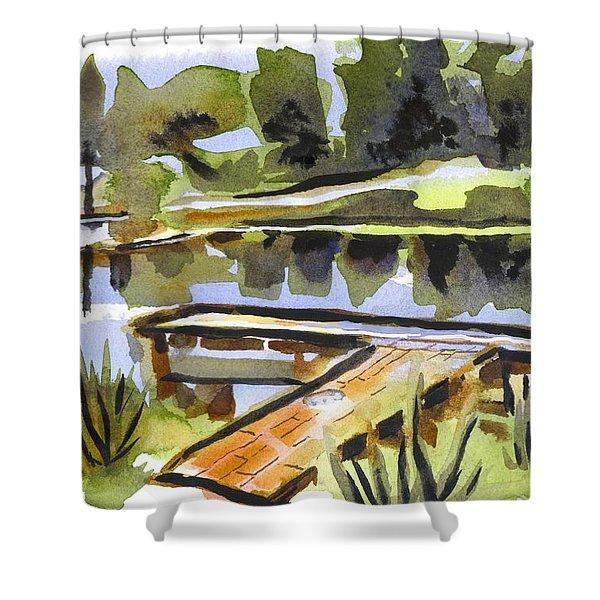 Evening Shadows At Shepherd Mountain Lake Shower Curtain