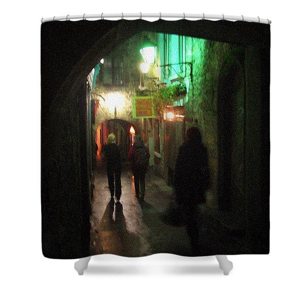 Evening Shoppers Shower Curtain