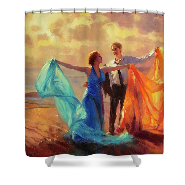 Evening Waltz Shower Curtain
