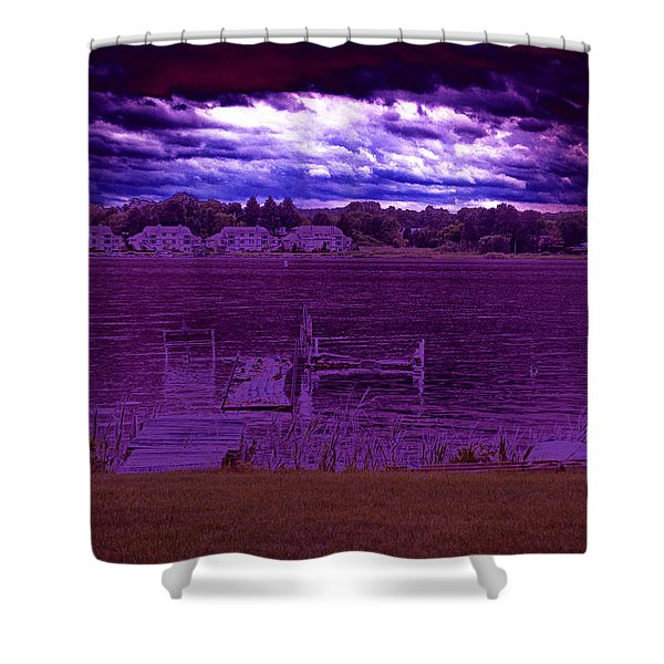 Event At The Bay Shower Curtain