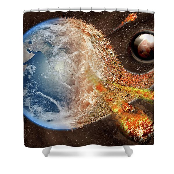 Event Horizon Shower Curtain