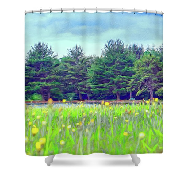 Evergreen Lake - Impressionism Shower Curtain