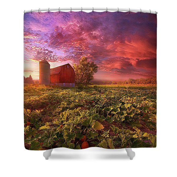 Every Dark Night Turns Into Day Shower Curtain