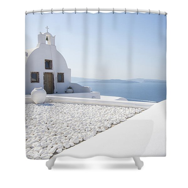 Everything Is White Shower Curtain