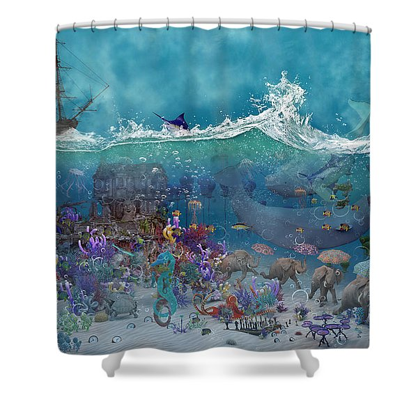 Everything Under The Sea Shower Curtain
