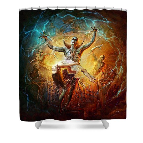 Evil God Shower Curtain