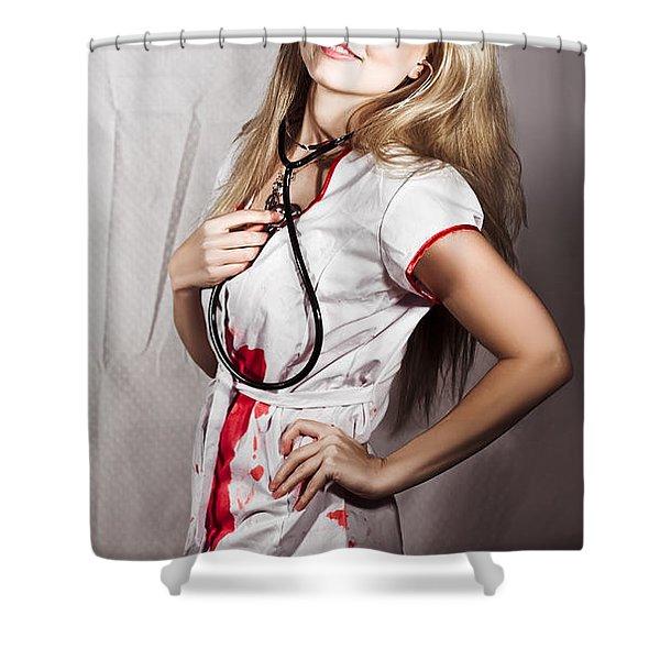 Evil Nurse Shower Curtain