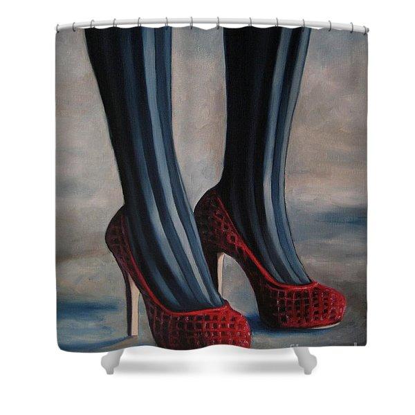 Evil Shoes Shower Curtain