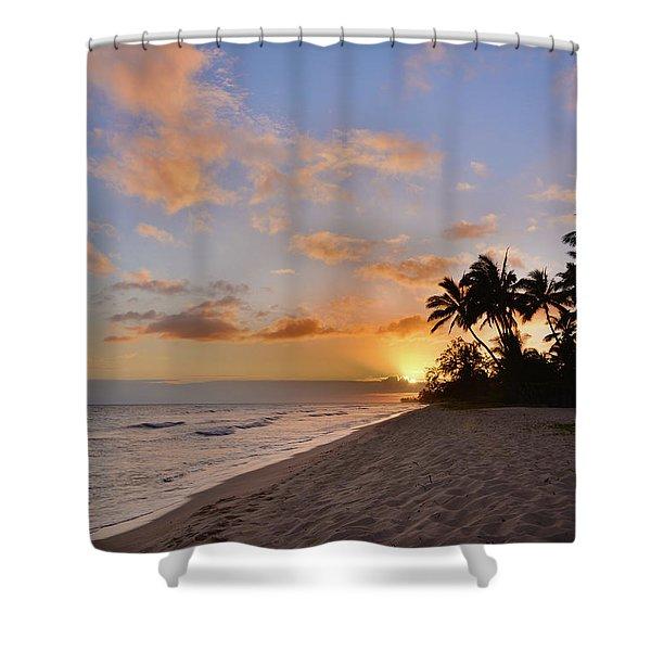 Ewa Beach Sunset 2 - Oahu Hawaii Shower Curtain