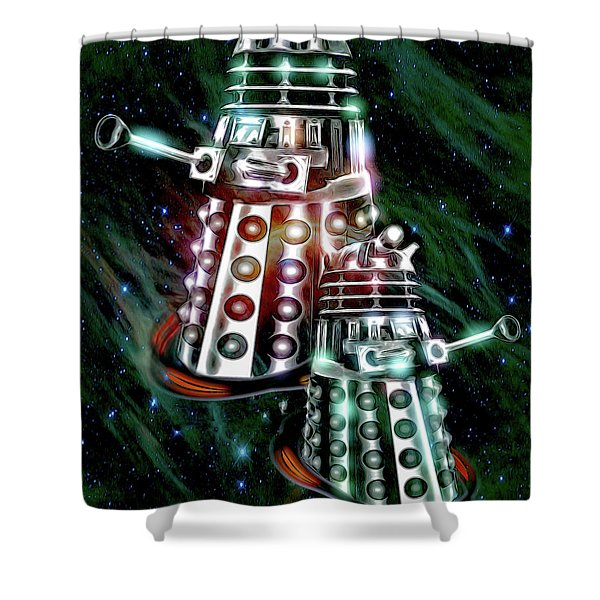 Ex-ter-min-ate Shower Curtain