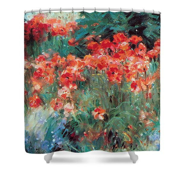 Shower Curtain featuring the painting Excitment by Rosario Piazza