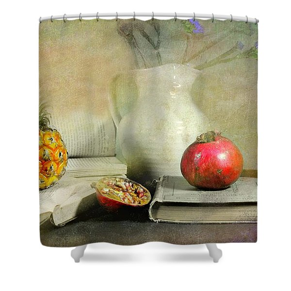 The Bookeeper Shower Curtain