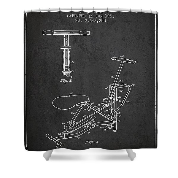 Exercise Machine Patent From 1953 - Charcoal Shower Curtain