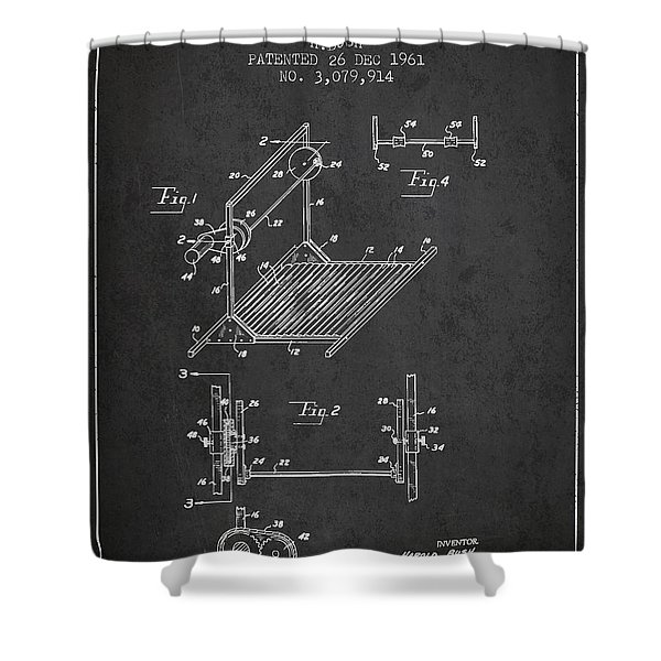 Exercise Machine Patent From 1961 - Charcoal Shower Curtain