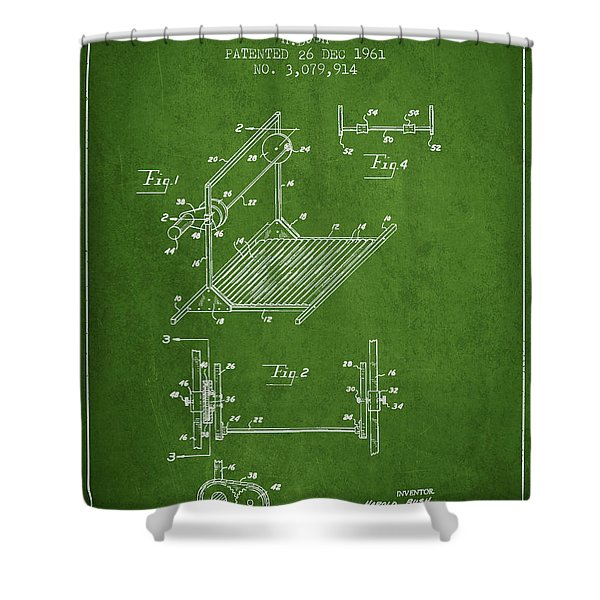 Exercise Machine Patent From 1961 - Green Shower Curtain