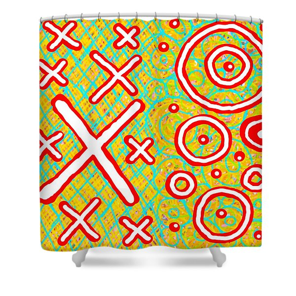 Exes And Ohs Shower Curtain