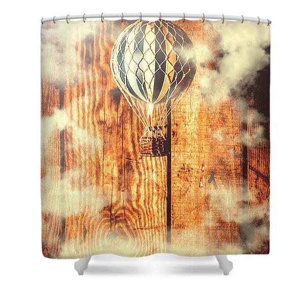 Exhibit In Adventure Shower Curtain