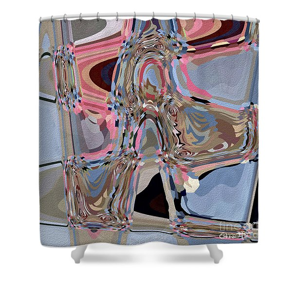 Shower Curtain featuring the digital art Exit by Eleni Mac Synodinos
