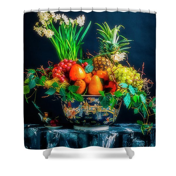 Exotic Bowl Of Fruit Shower Curtain