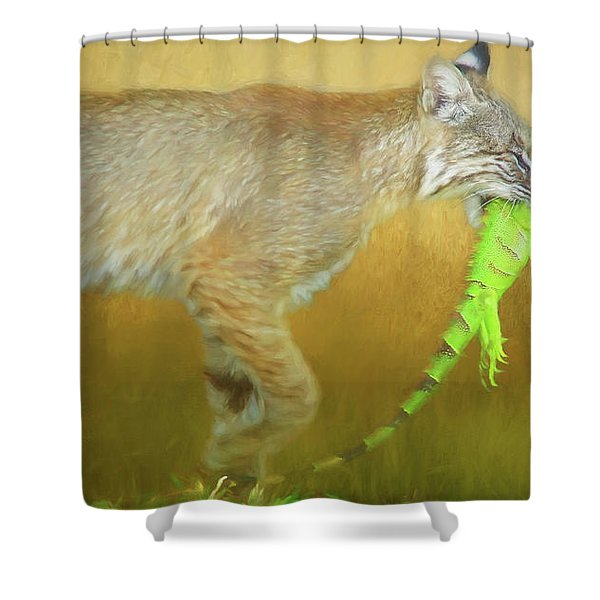 Exotic Lunch. Shower Curtain
