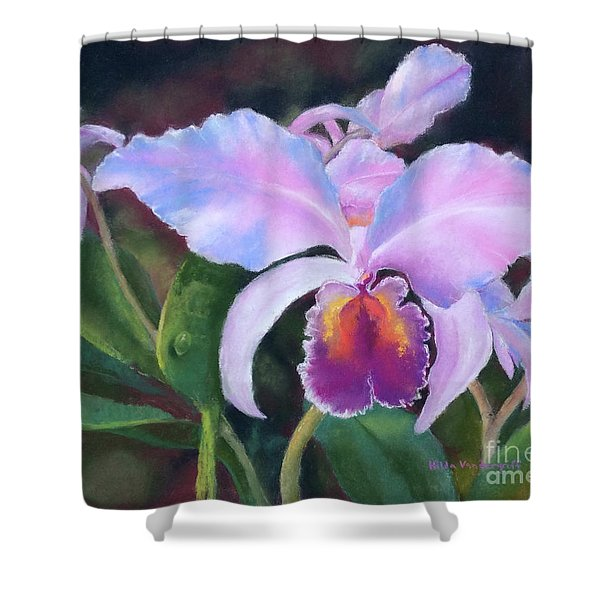 Exotic Pink Orchid Shower Curtain