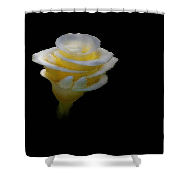 Exotic White Bloom Shower Curtain