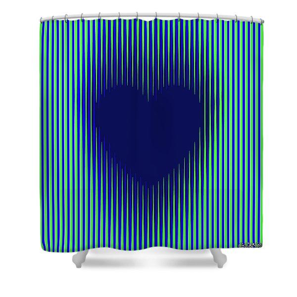 Expanding Heart 2 Shower Curtain