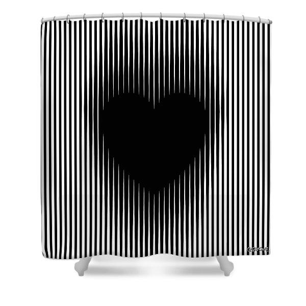 Expanding Heart Shower Curtain
