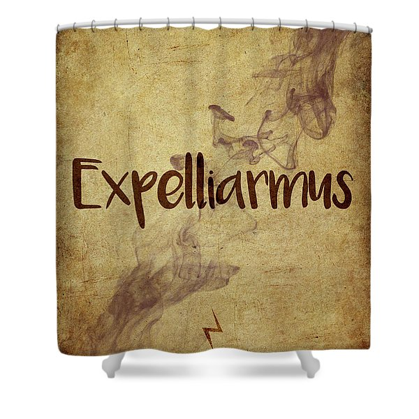 Expelliarmus Shower Curtain