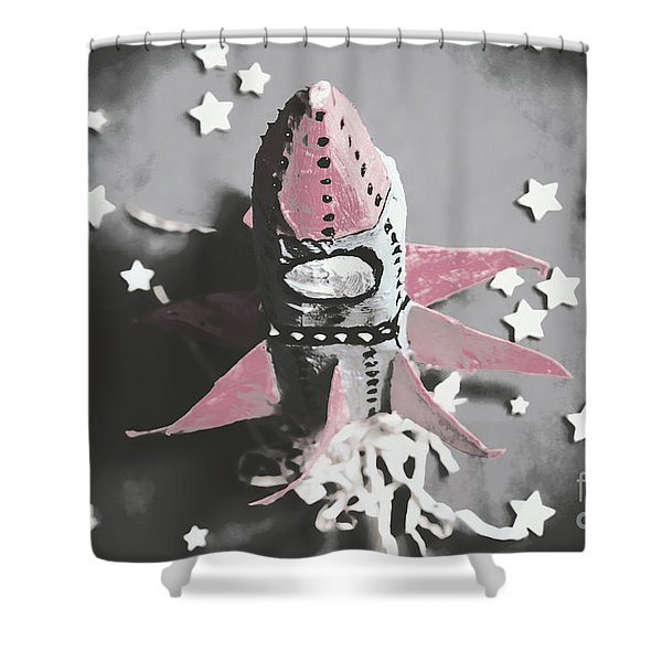 Exploration Into Outer Space  Shower Curtain