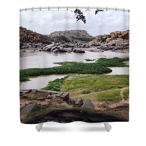 Hiking In Hampi Shower Curtain