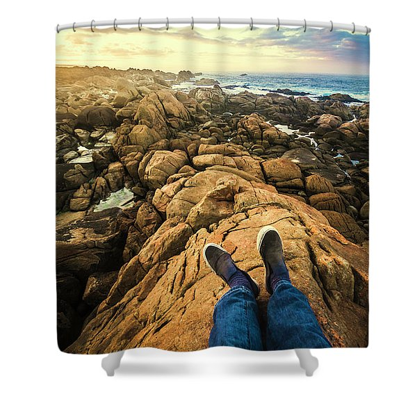 Exploring The Beaches Of Western Tasmania Shower Curtain