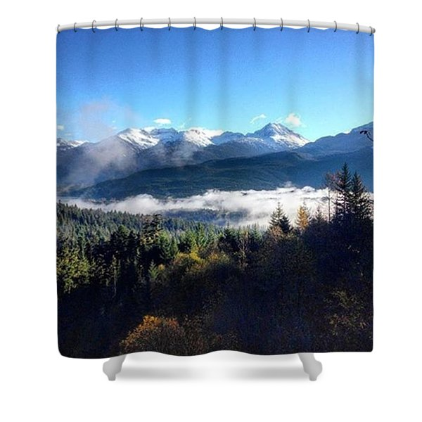 Exploring The Mountains Shower Curtain