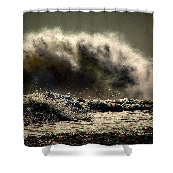 Explosion In The Ocean Shower Curtain