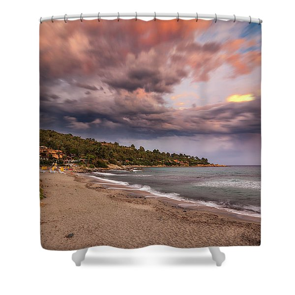 Explosion Of Colored Clouds Shower Curtain