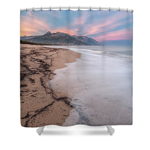 Explosion Of Colors On The Beach Shower Curtain