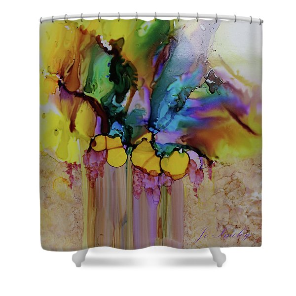 Explosion Of Petals Shower Curtain