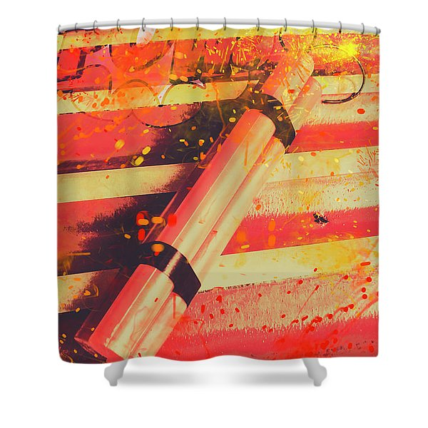 Explosive Comic Art Shower Curtain