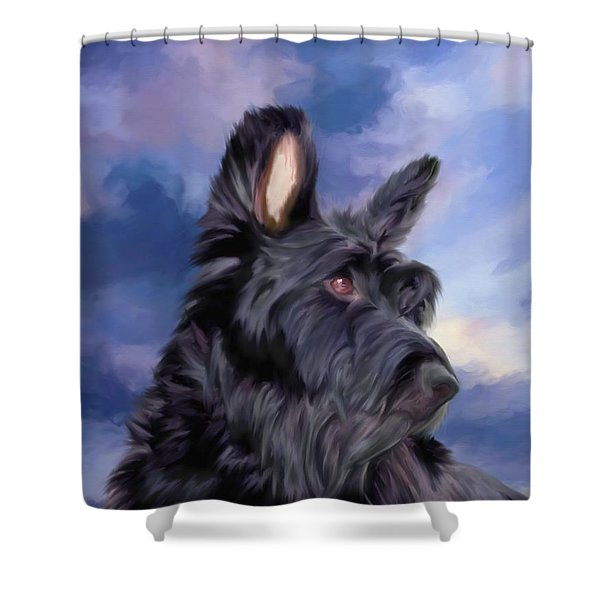 Expression Is Everything Scottish Terrier Dog Shower Curtain