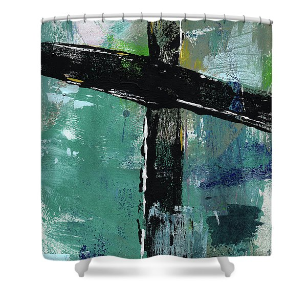 Expressionist Cross 8- Art By Linda Woods Shower Curtain