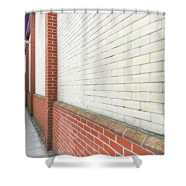 Exterior Wall Shower Curtain