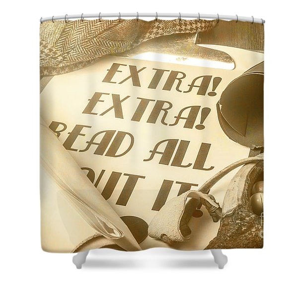 Extra Extra Read All About It Shower Curtain