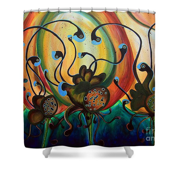 Extraterrestrial Flora Shower Curtain
