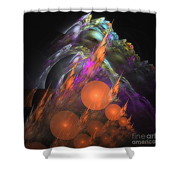Exuberant - Abstract Art Shower Curtain