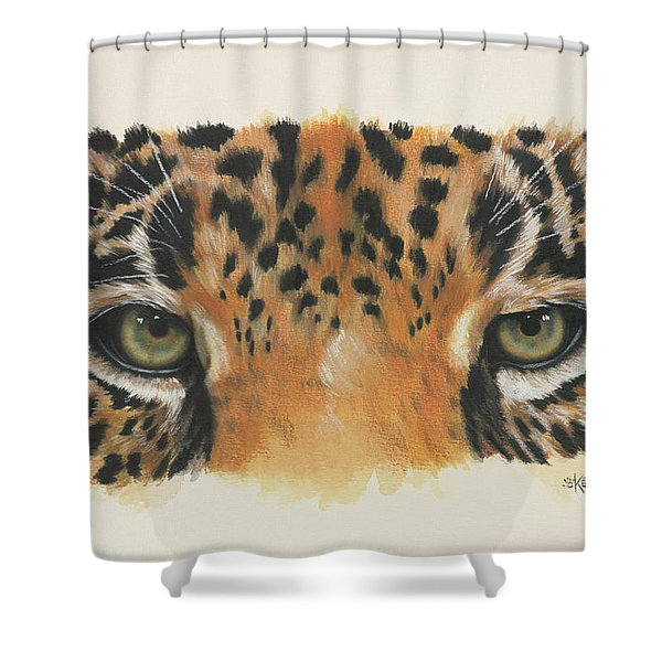 Jaguar Gaze Shower Curtain