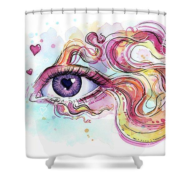 Eye Fish Surreal Betta Shower Curtain